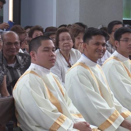 Rev. Elmer Hernandez and his SVD brothers' ordination